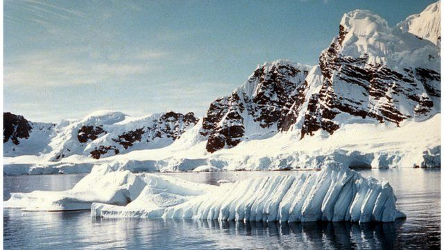 Icebergs melting in Antarctica
