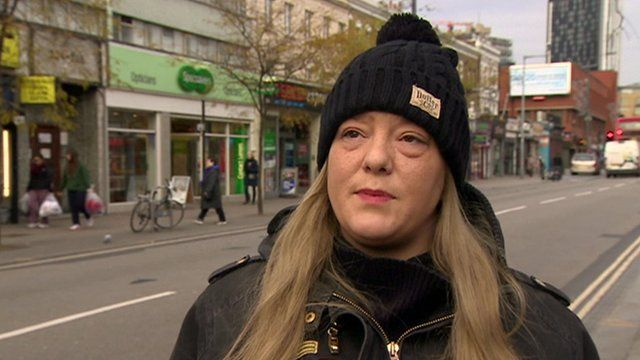 A woman gives her opinion on payday loans