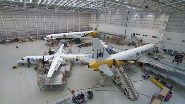 Monarch aircraft hangar