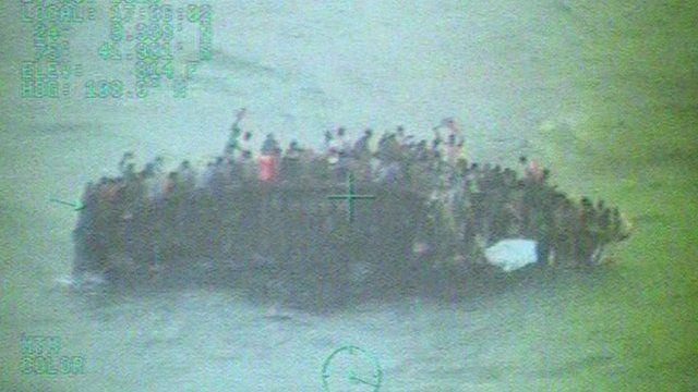 Migrants on vessel