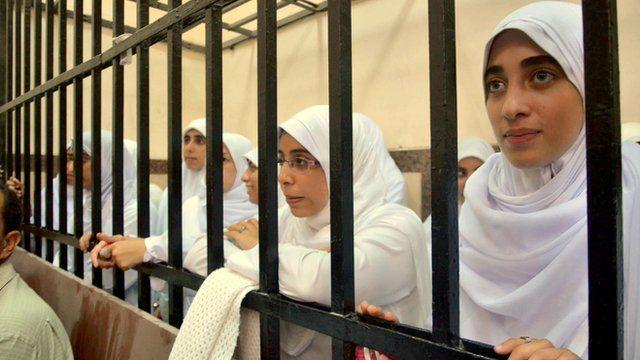 Egyptian women supporters of ousted President Mohammed Morsi