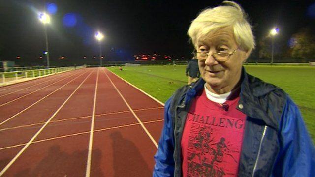 Barry Ewington at athletics track
