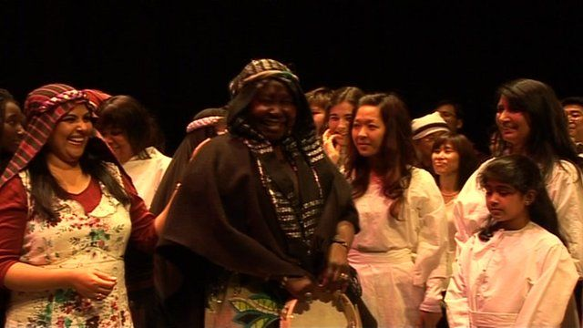 Multicultural nativity play at Wales Millennium Centre