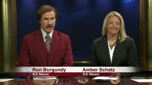 A clip from the news programme that Will Ferrell guest hosted