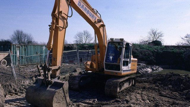 JCB on construction site
