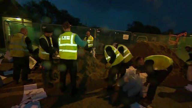 Sand bags being distributed in Kent