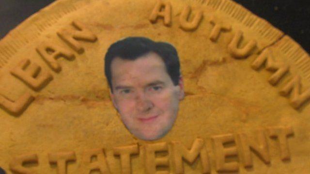 George Osborne's head baked on a pasty