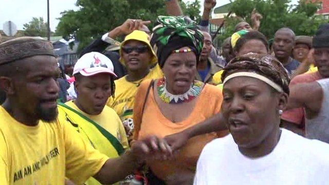 In Soweto South Africans danced in the streets celebrating the life of Nelson Mandela.