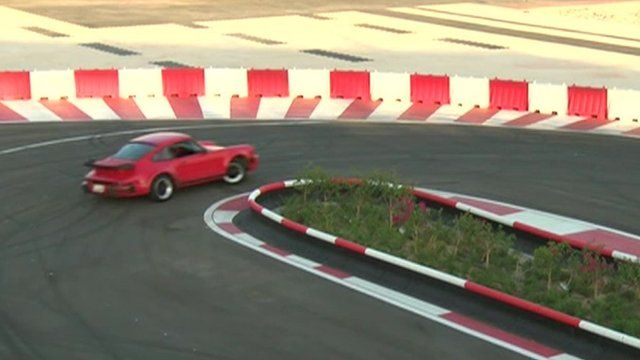 car on mini track