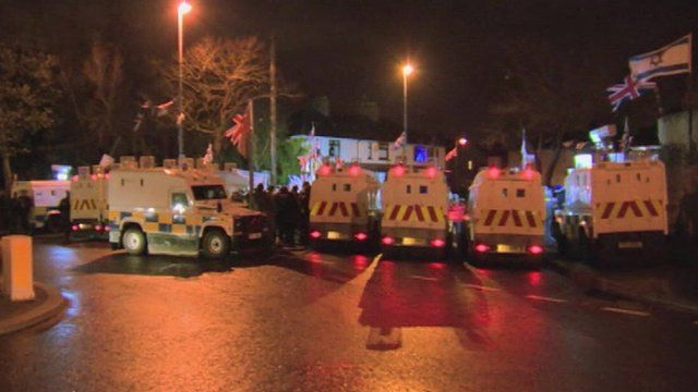 Police in Ardoyne