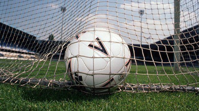 Football in goal
