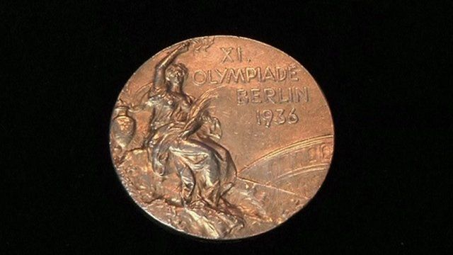 A gold medal from the 1936 Berlin Olympics