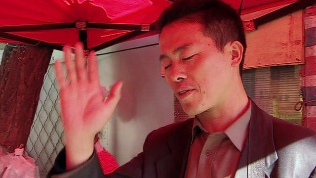 Chinese man refusing to talk