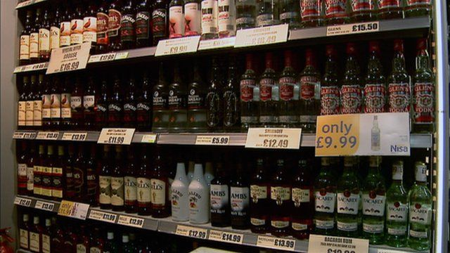 Alcohol for sale in a shop