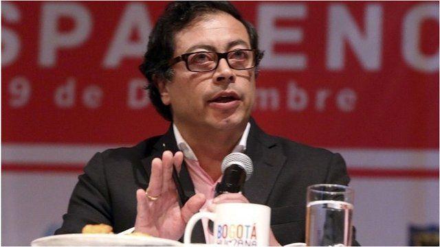 Gustavo Petro, sacked mayor of Bogota, Colombia