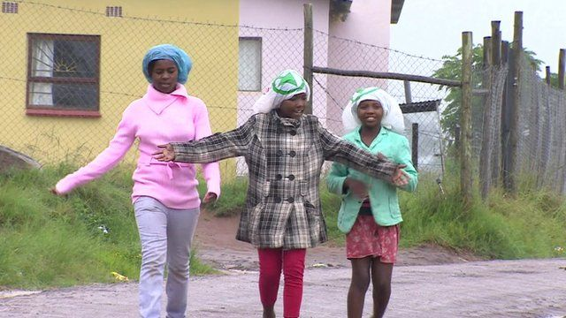Children in an impoverished settlement in The Transkei, South Africa