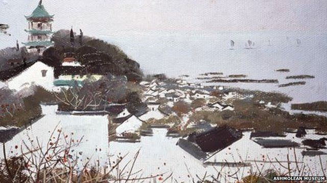 Wu Guanzhong's Wuxu and Lake Tai (1973), part of the Sullivan collection