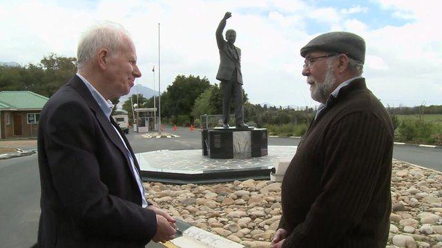 BBC reporter Mike Wooldridge and telephone engineer Andre Puchert