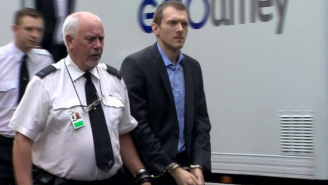 Jeremy Forrest being lead away in handcuffs