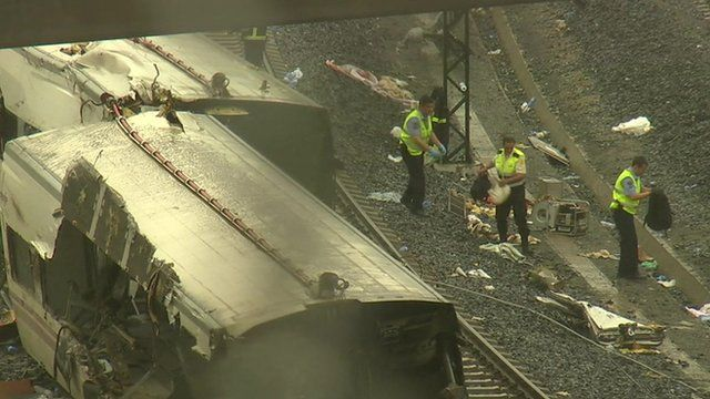 Scene of Spain train crash