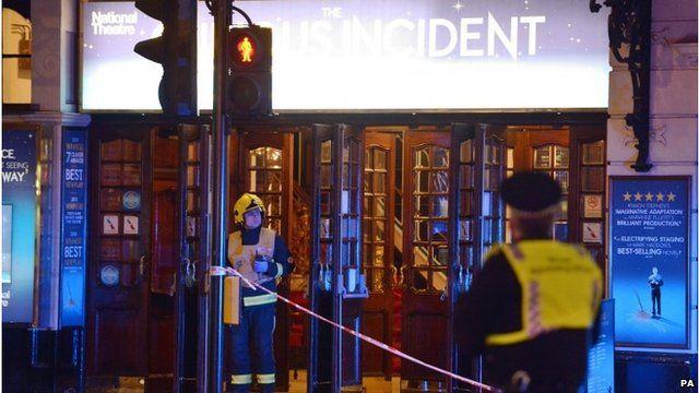 Emergency services outside Apollo Theatre