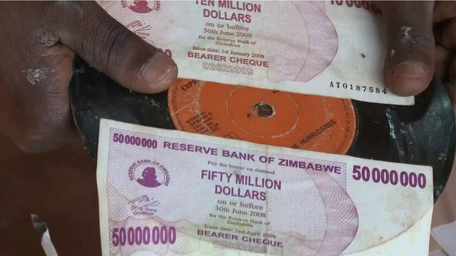 Old Zimbabwean currency