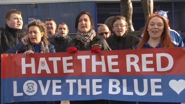 Fans backing Malky Mackay at Cardiff City FC