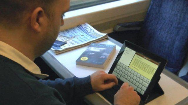 Andy Leeks on the train