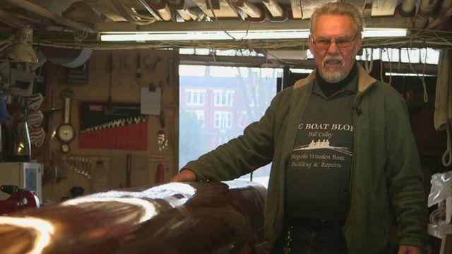 Boat-builder Bill Colley