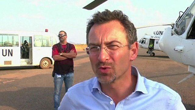 Toby Lanzer,, UN humanitarian co-ordinator