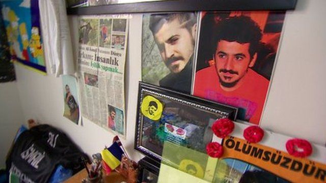 Ali Ismail Korkmaz's room in his home in Antakya