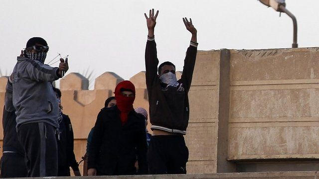 Protesters in Cairo