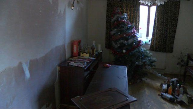 Sean Matthew's flood-damaged home