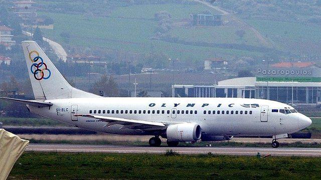Olympic Airways plane lands in 2006