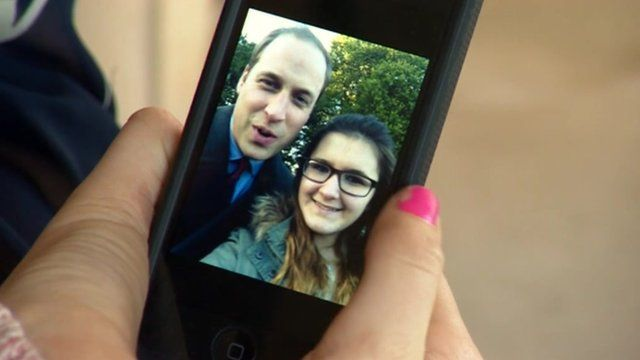 Selfie of Prince William and Madison