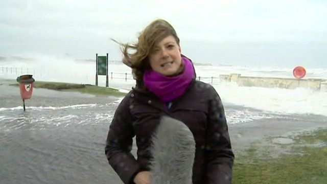 BBC reporter Laura Bicker in Ayrshire
