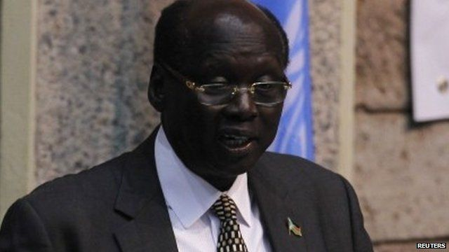South Sudan Foreign Affairs Minister, Barnaba Marial Benjamin