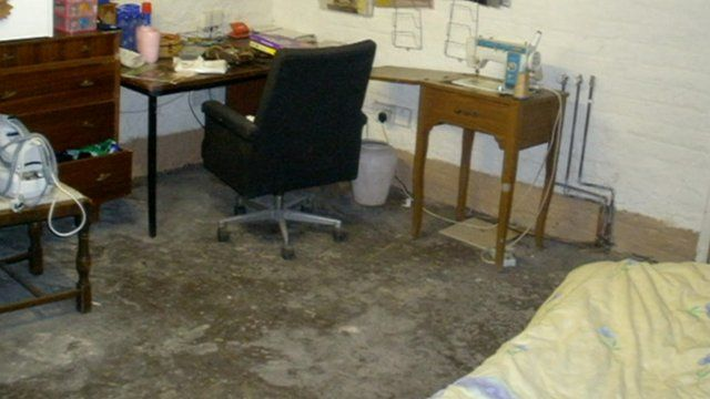 The cellar a human trafficking victim was kept in