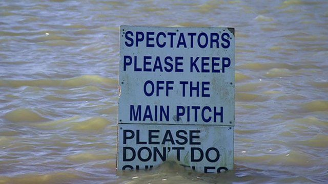Pitch sign at Abingdon FC