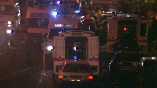 Ambulance crews attending Kegworth air disaster