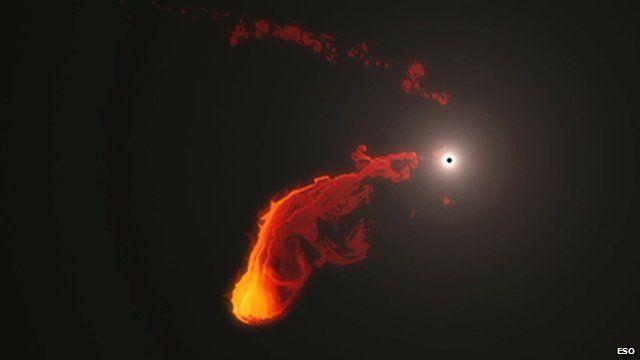 Black hole ready to 'eat' gas cloud