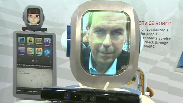 The BBC's Rory-Cellan Jones becomes the face of a robotic usher