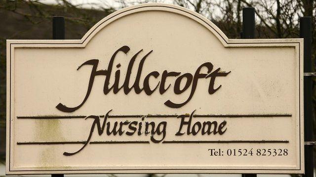 Hillcroft Care Home sign