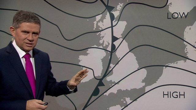BBC weather forecaster Phil Avery