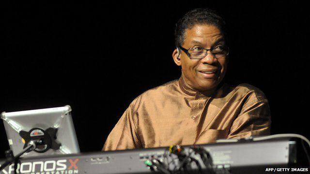 Herbie Hancock playing the keyboard