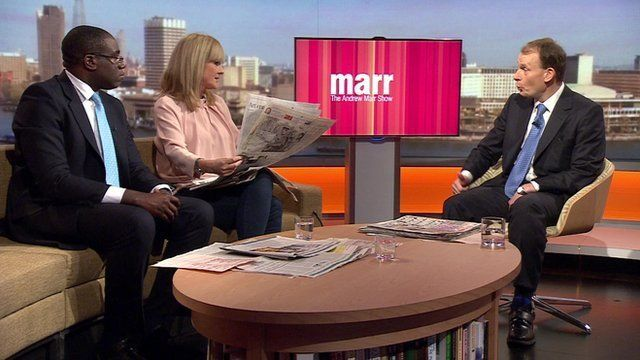 Jane Moore, columnist for The Sun, and Labour MP David Lammy review the Sunday papers with Andrew Marr