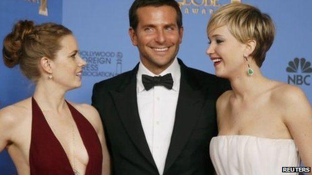 Amy Adams, Bradley Cooper and Jennifer Lawrence