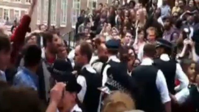 Students' protest outside SOAS