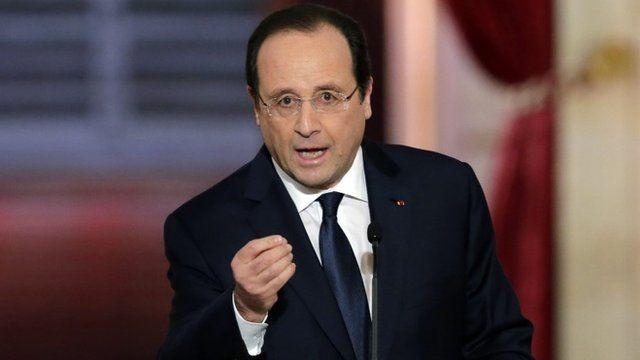 President Francois Hollande during news conference