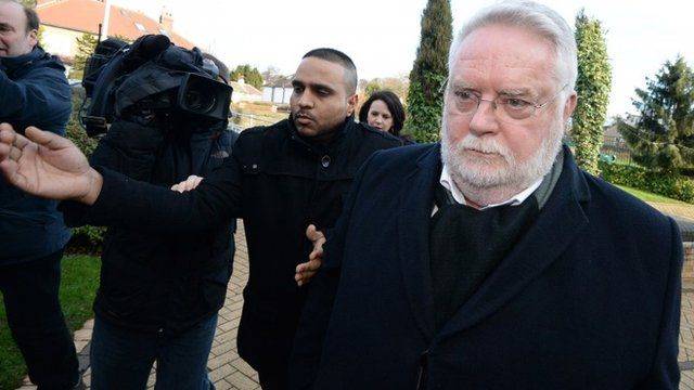 Paul Flowers arrives at Stainbeck police station on January 14, 2014 in Leeds, England